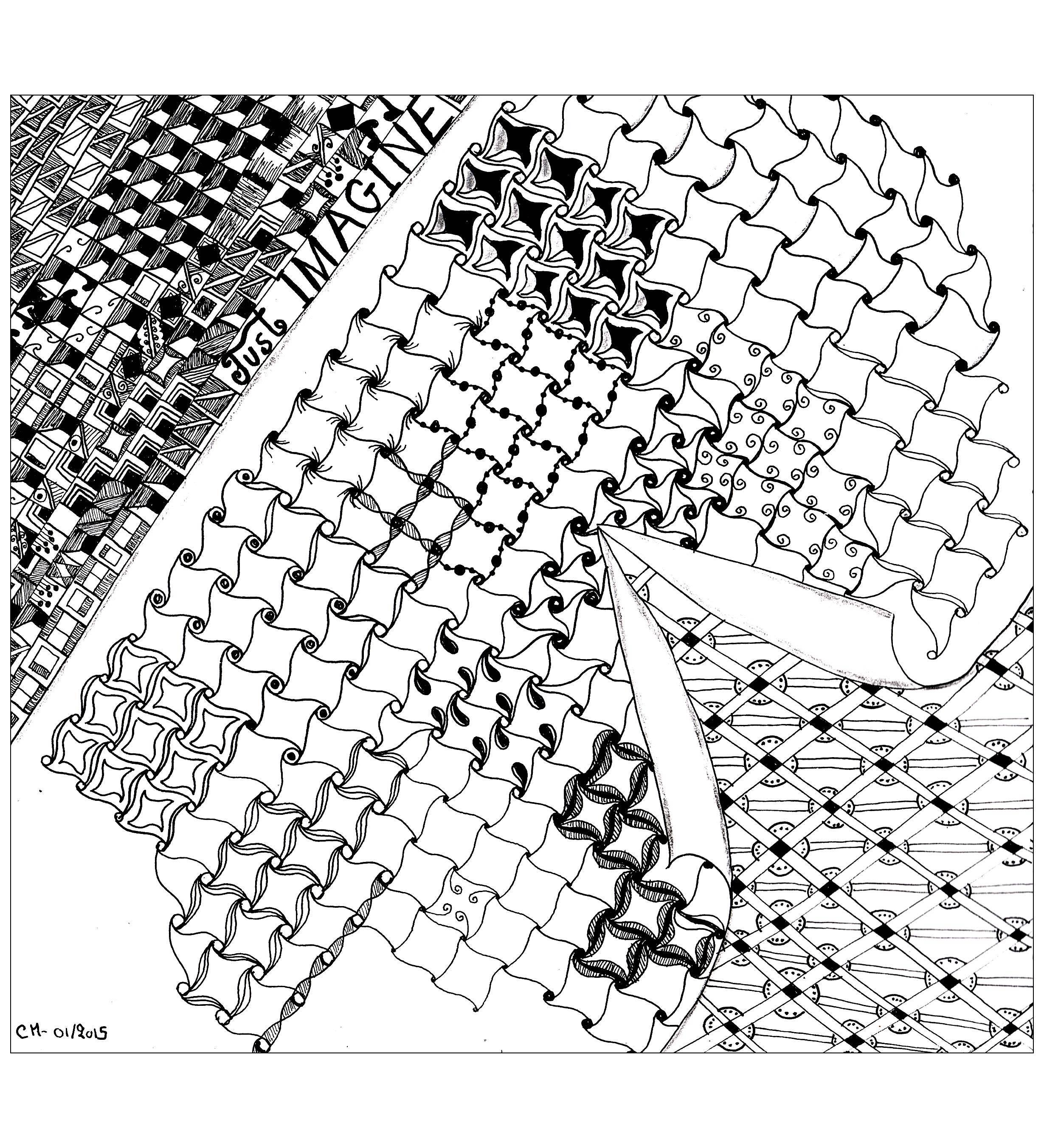 Zentangle 67552 zentangle disegni da colorare per adulti for Zentangle per bambini