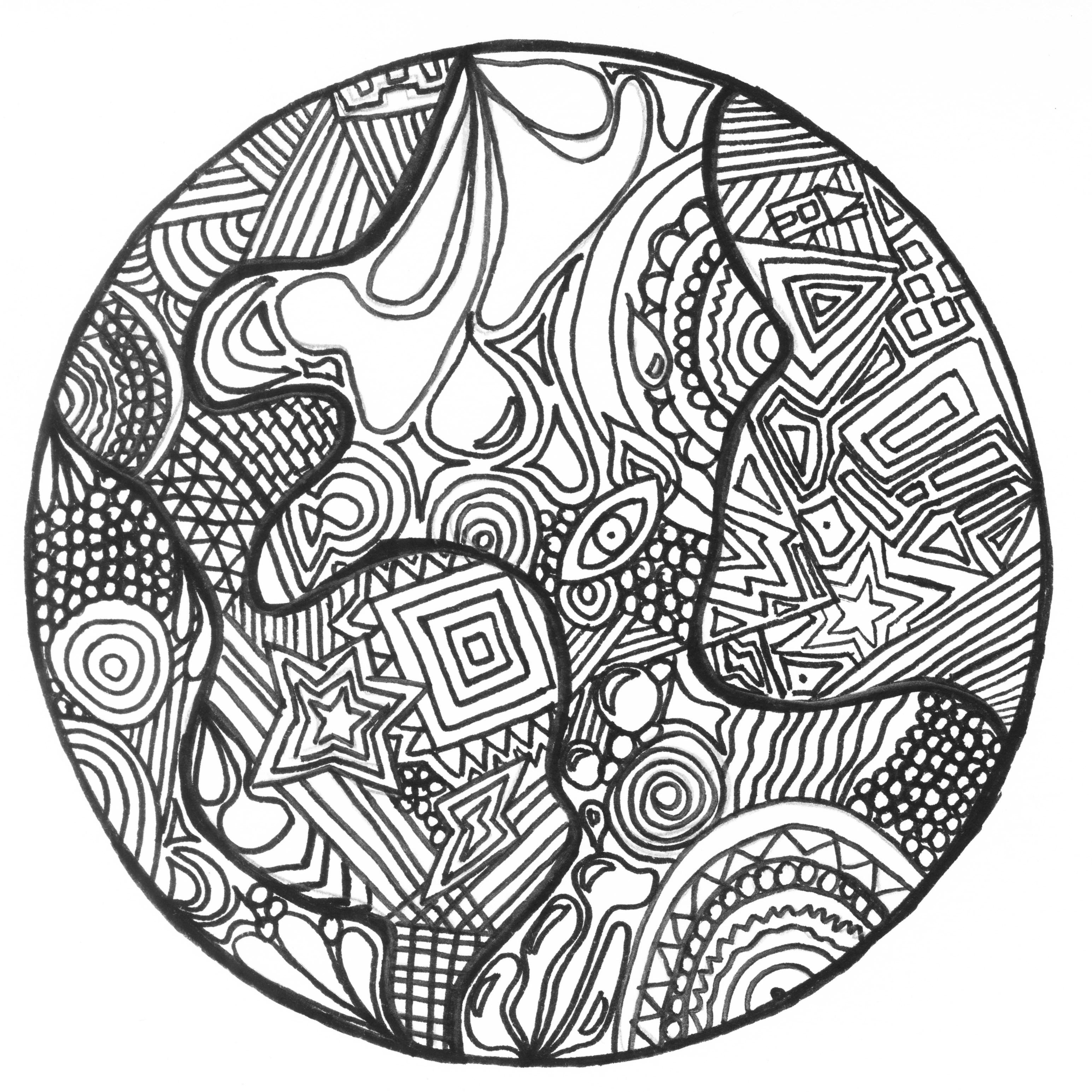 Disegni da colorare per adulti : Zentangle - 48