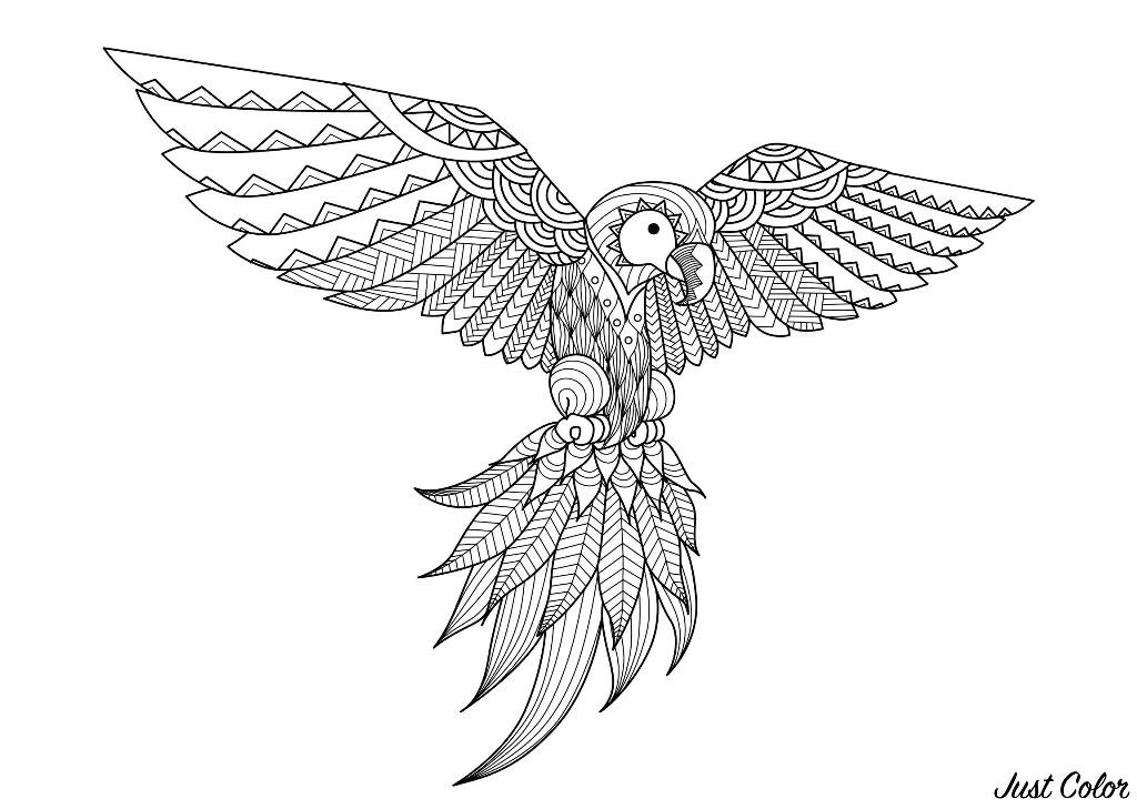 Disegni da colorare per adulti : Zentangle - 38