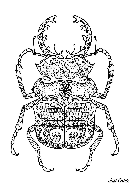 Disegni da colorare per adulti : Zentangle - 35