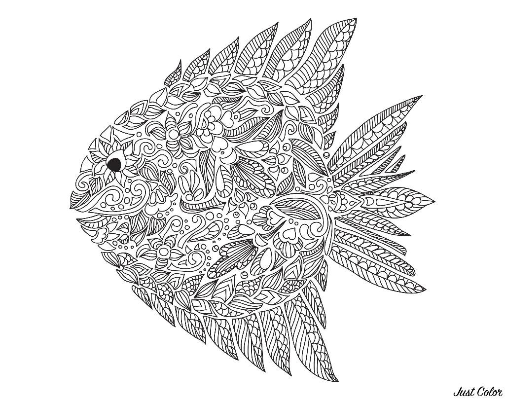 Disegni da colorare per adulti : Zentangle - 40