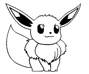 Coloring page pokemon to color for kids