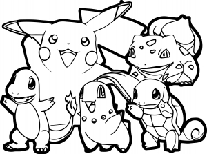 Coloring page pokemon for children