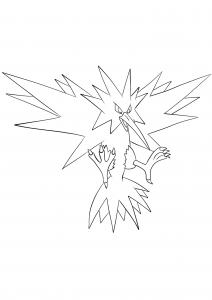 <b>Zapdos</b> (No.145) : Pokemon (Generation I)
