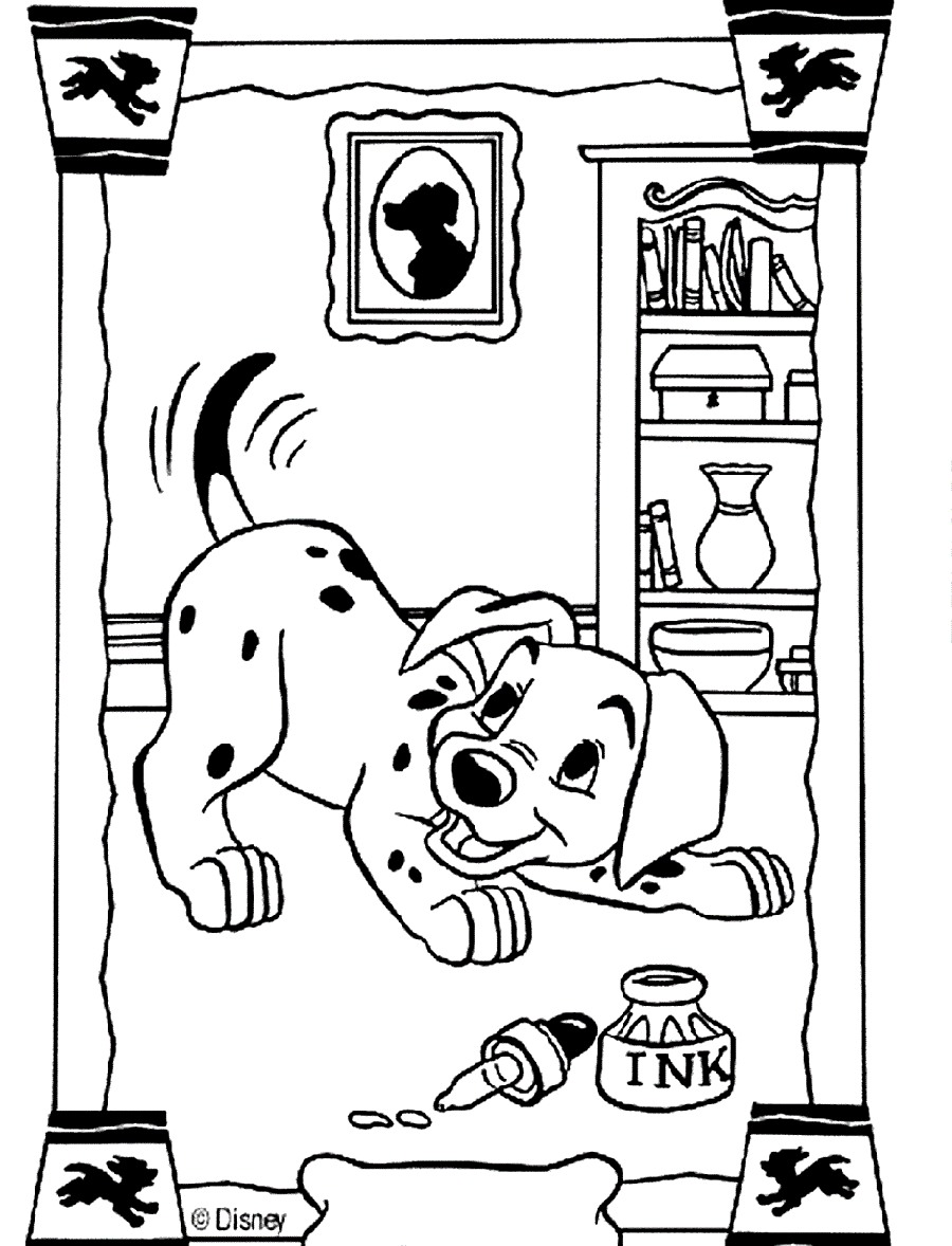 101 dalmatians to print for free - 101 Dalmatians Kids Coloring Pages