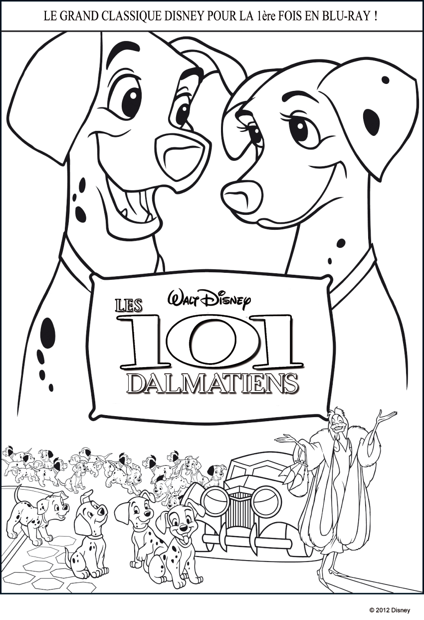 free101 dalmation coloring pages - photo#7
