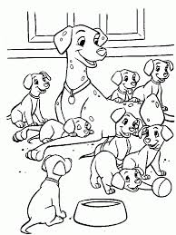 Simple free 101 Dalmatians coloring page to print and color