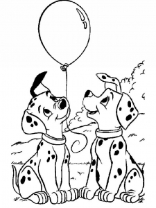 Coloring page 101 dalmatians to print for free