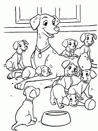 Coloring page 101 dalmatians to color for children