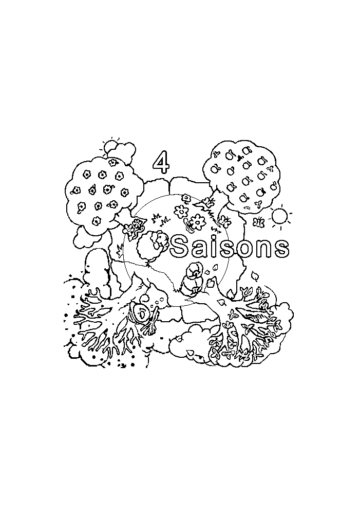 - 4 Seasons To Print For Free - 4 Seasons Kids Coloring Pages