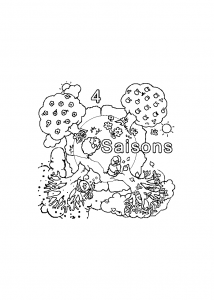 Coloring page 4 seasons to print for free