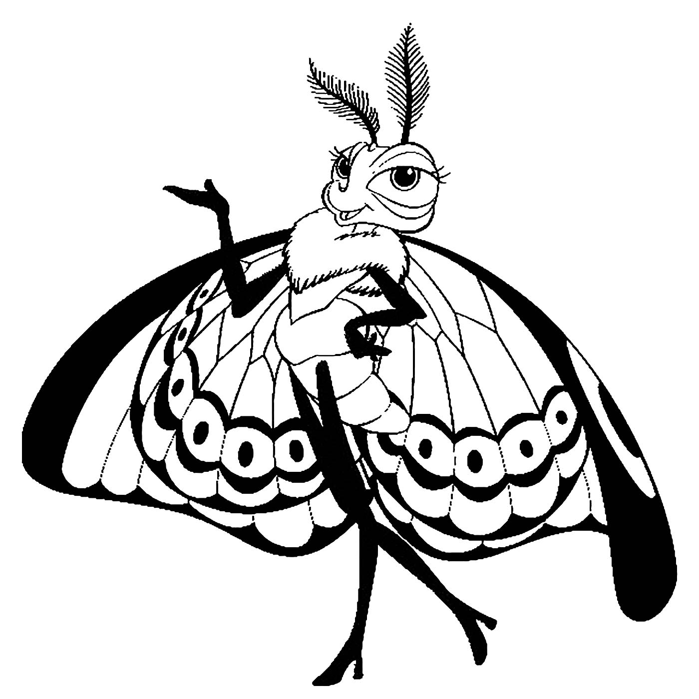 Simple A Bugs Life coloring page to print and color for free