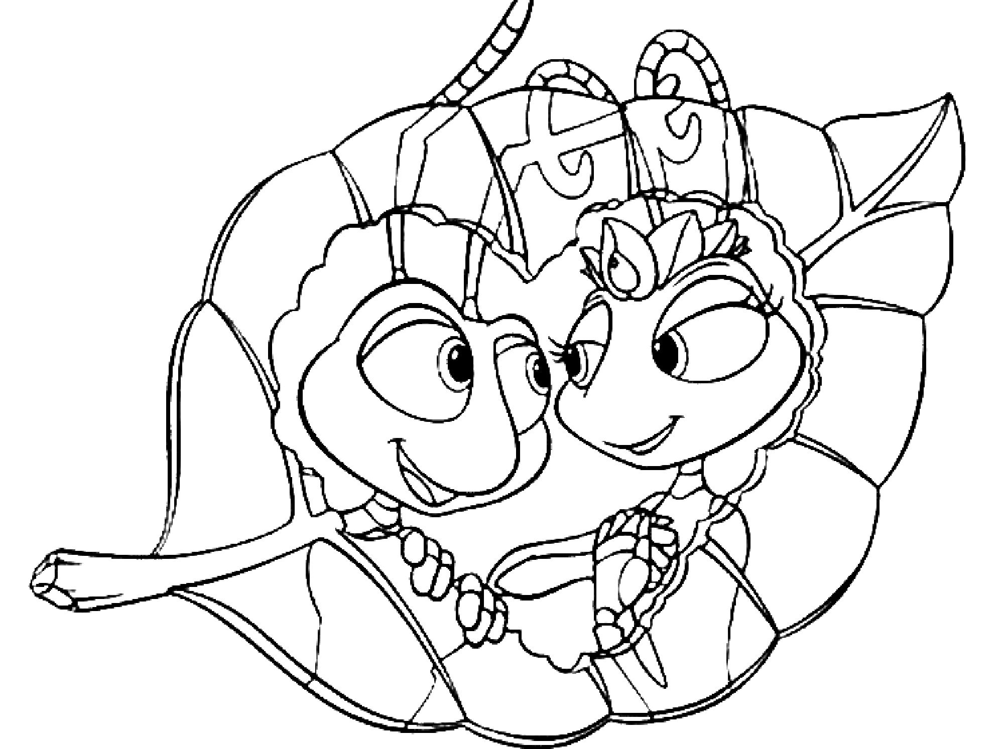 Incredible A Bugs Life coloring page to print and color for free