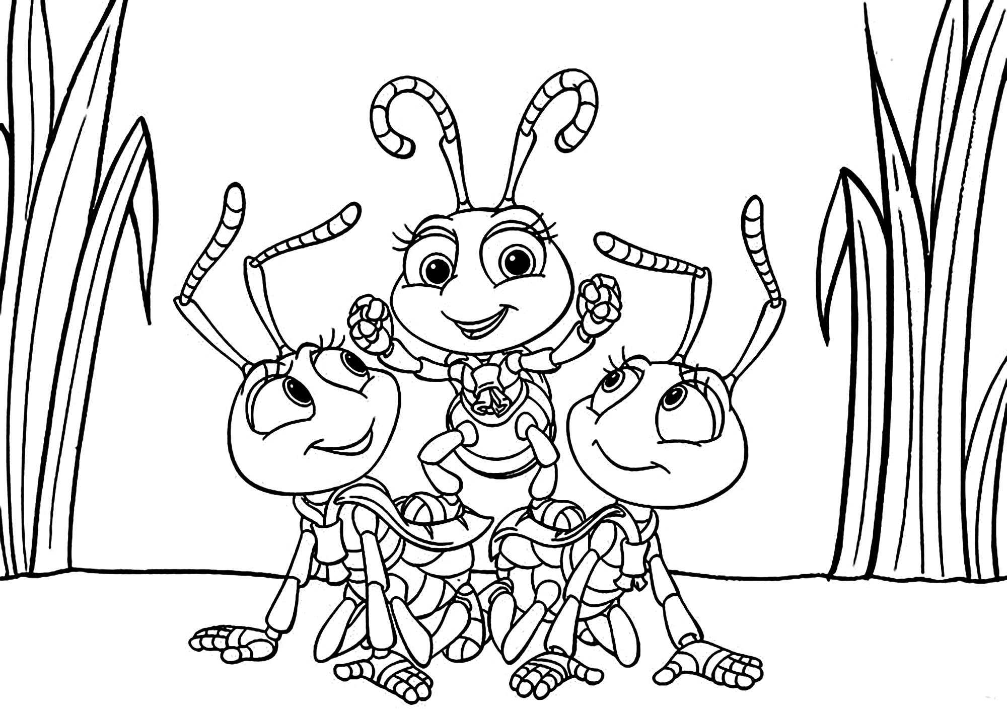 Easy free A Bugs Life coloring page to download