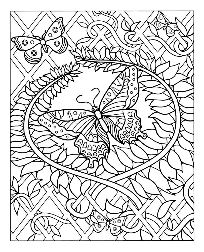 Simple Adult coloring page to download for free