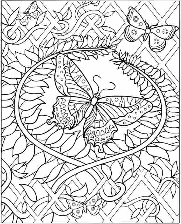 Printable Adult coloring page to print and color
