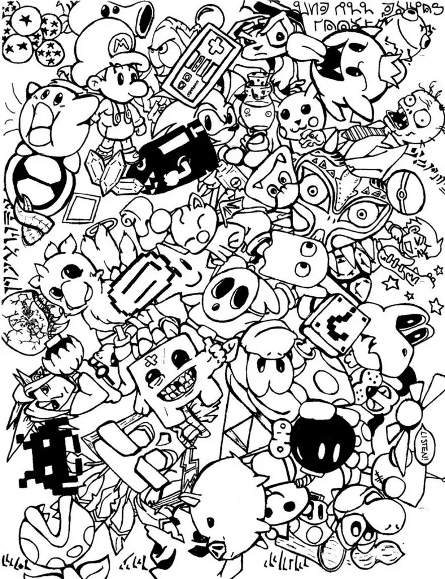 Adult Coloring Page To Print And Color