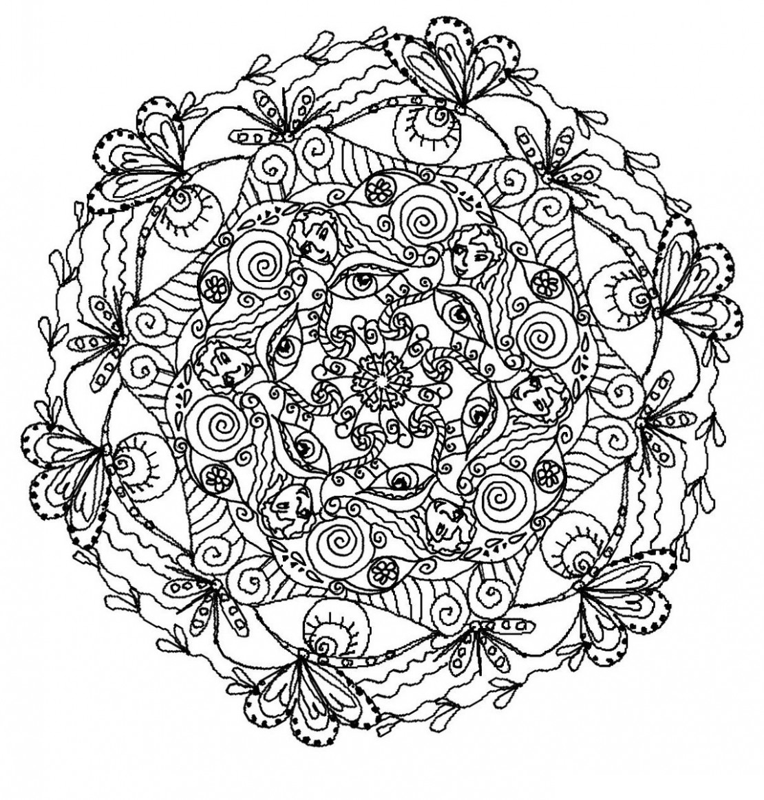 Printable Adult coloring page to print and color for free