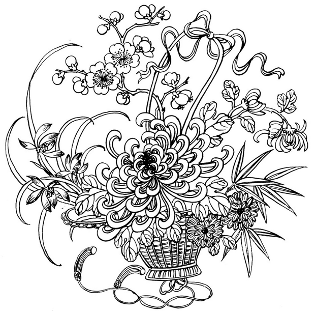 Adult coloring page to print and color for free