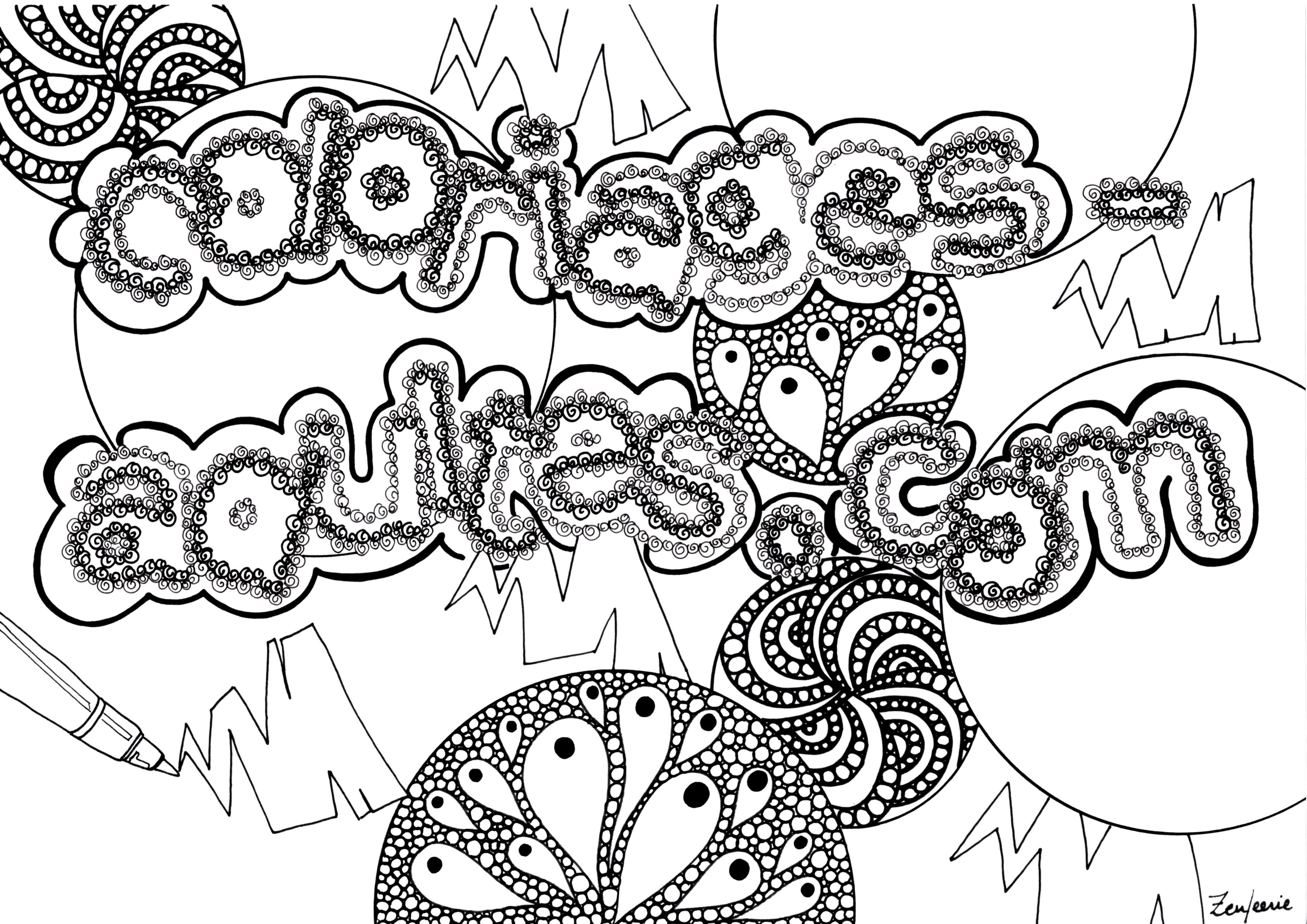 Simple Adult coloring page for children