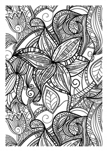 Coloring page adult to print