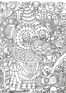 Coloring page adult to print for free