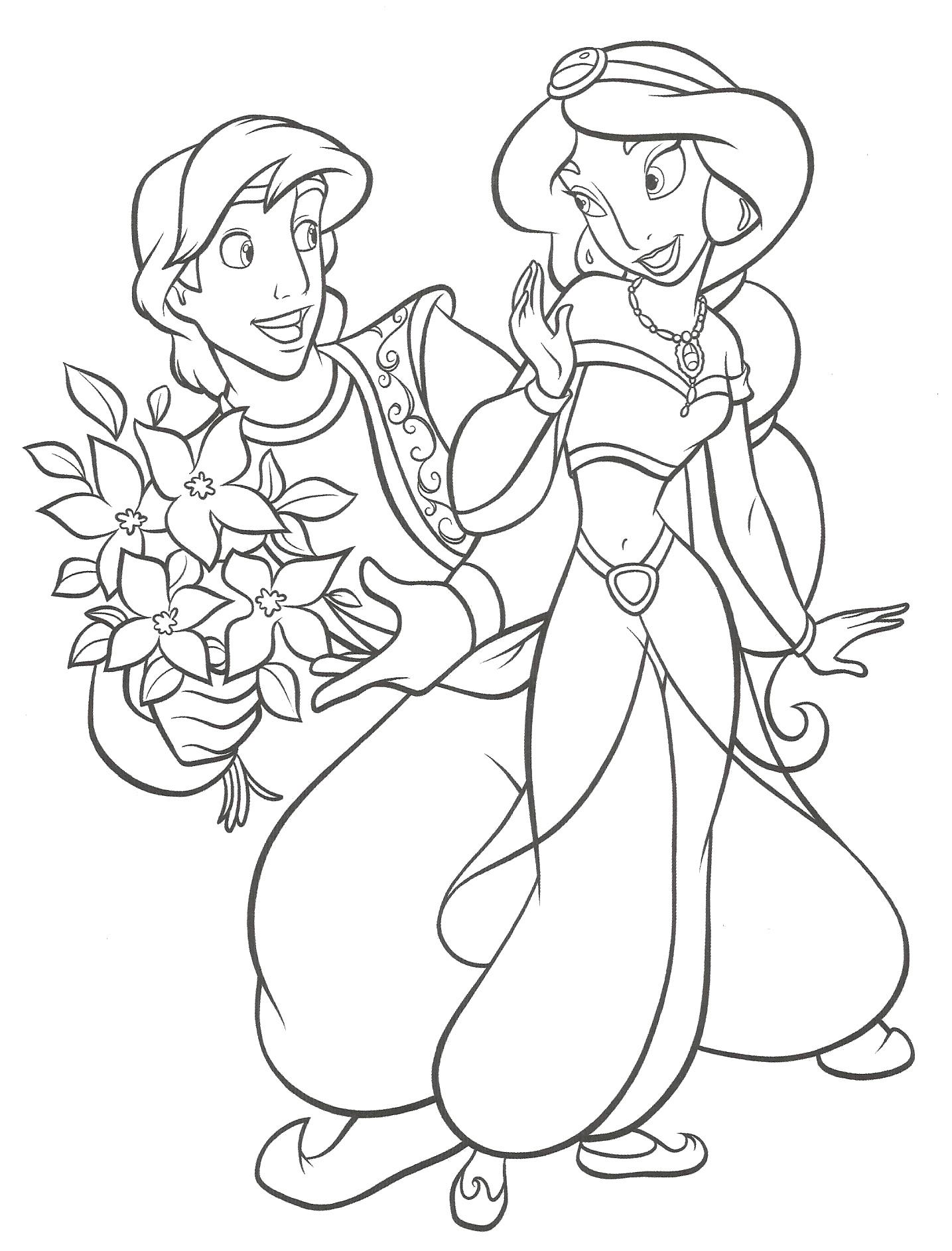 Aladdin and jasmine to print for free - Aladdin (and Jasmine) Kids ...