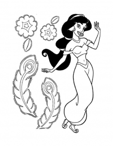 Coloring page aladdin (and jasmine) to download