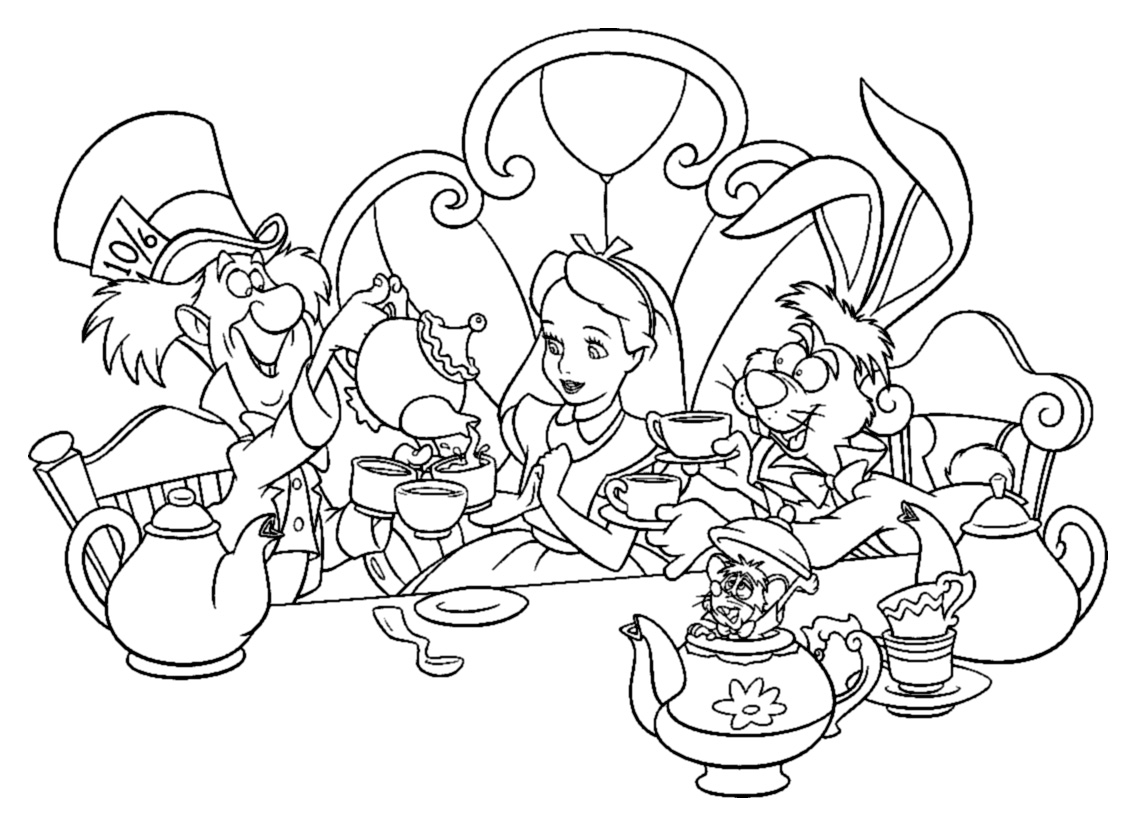 Alice For Children Alice Kids Coloring Pages