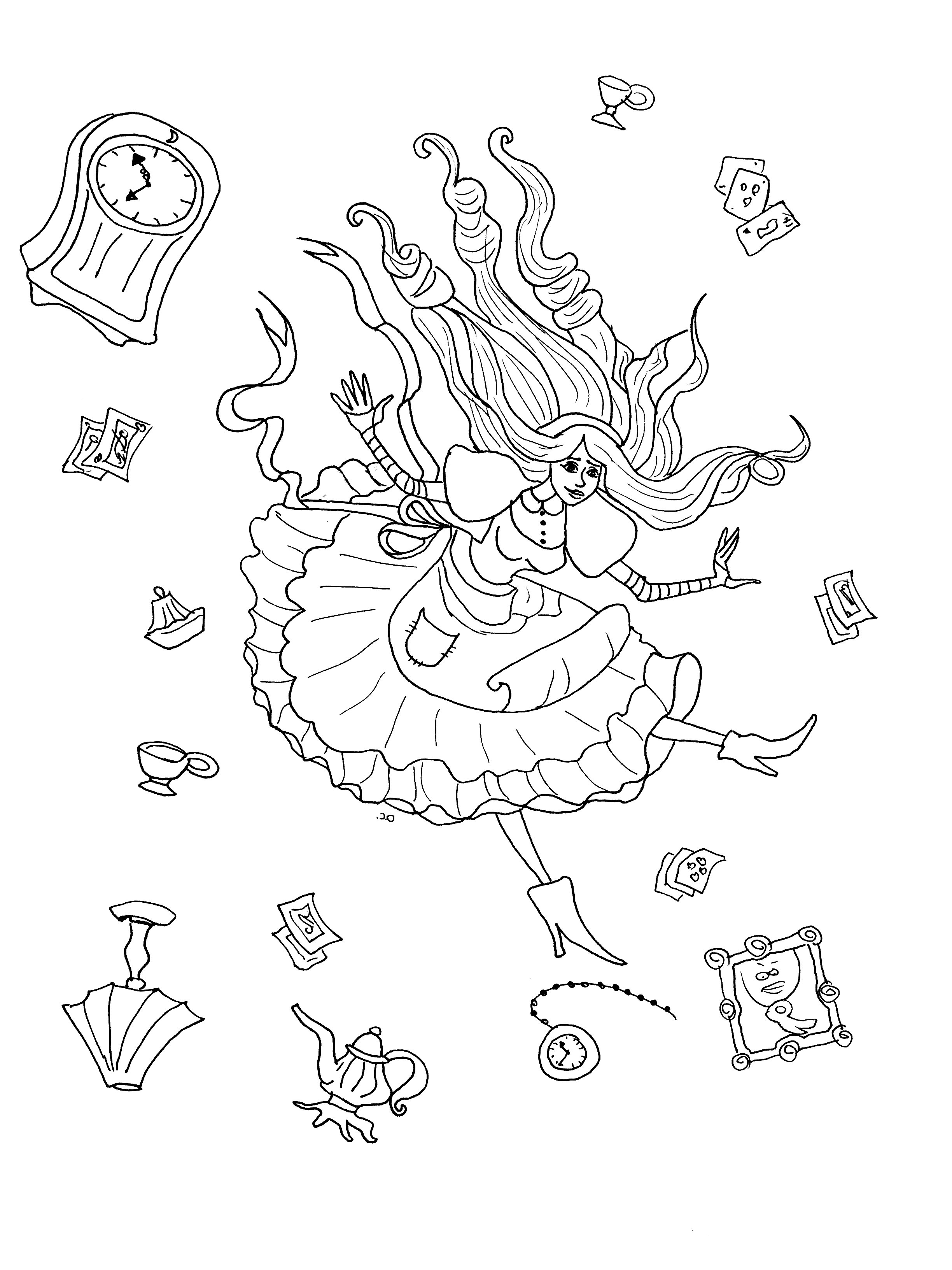 Alice coloring page to print and color