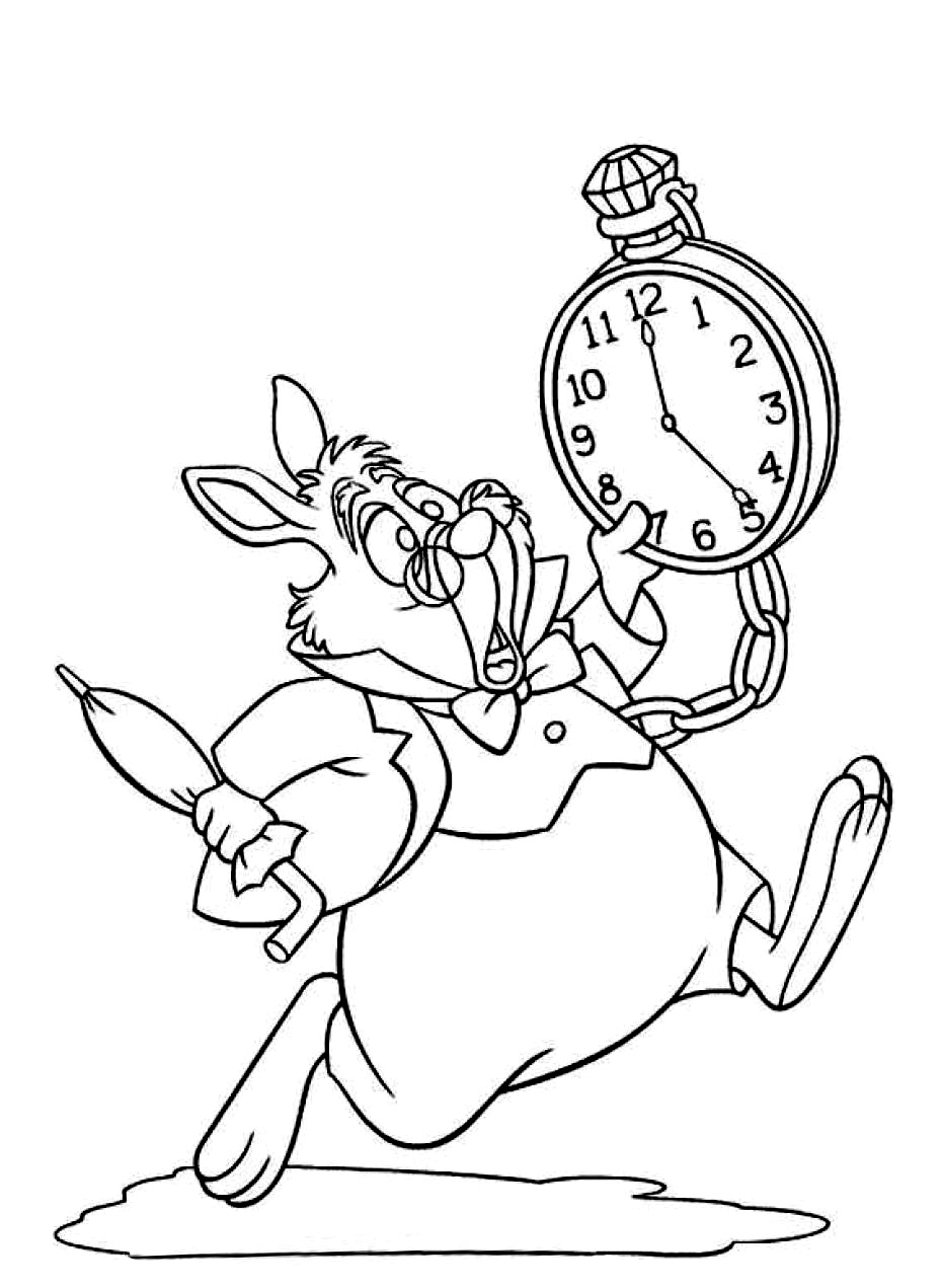 Beautiful Alice coloring page to print and color