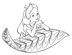 Coloring page alice free to color for children