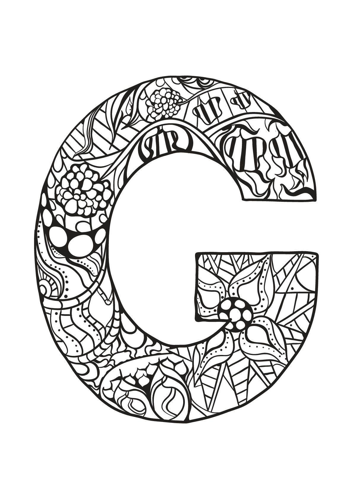 Alphabet to download for free : G - Alphabet Kids Coloring ...