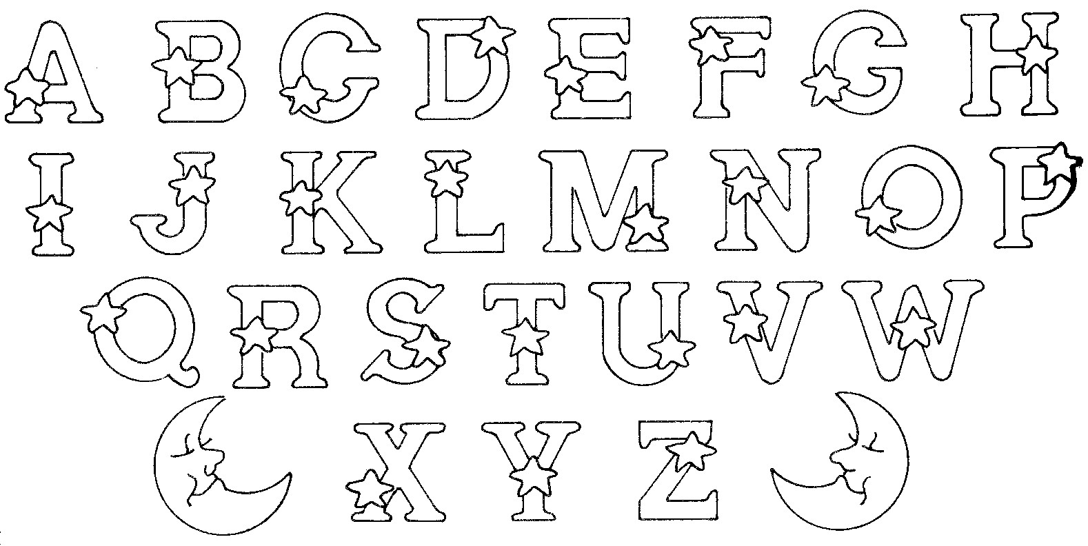 Alphabet to download Alphabet Kids Coloring Pages