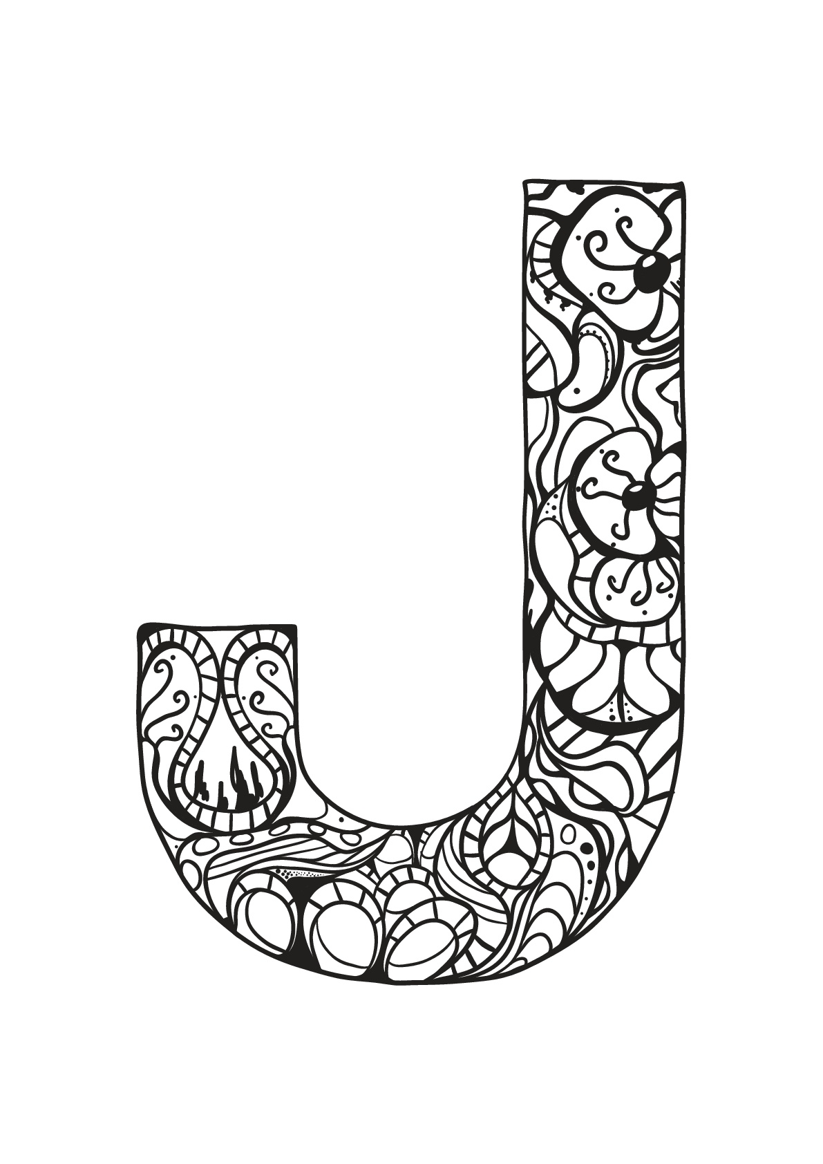Alphabet free to color for kids Alphabet Kids Coloring Pages