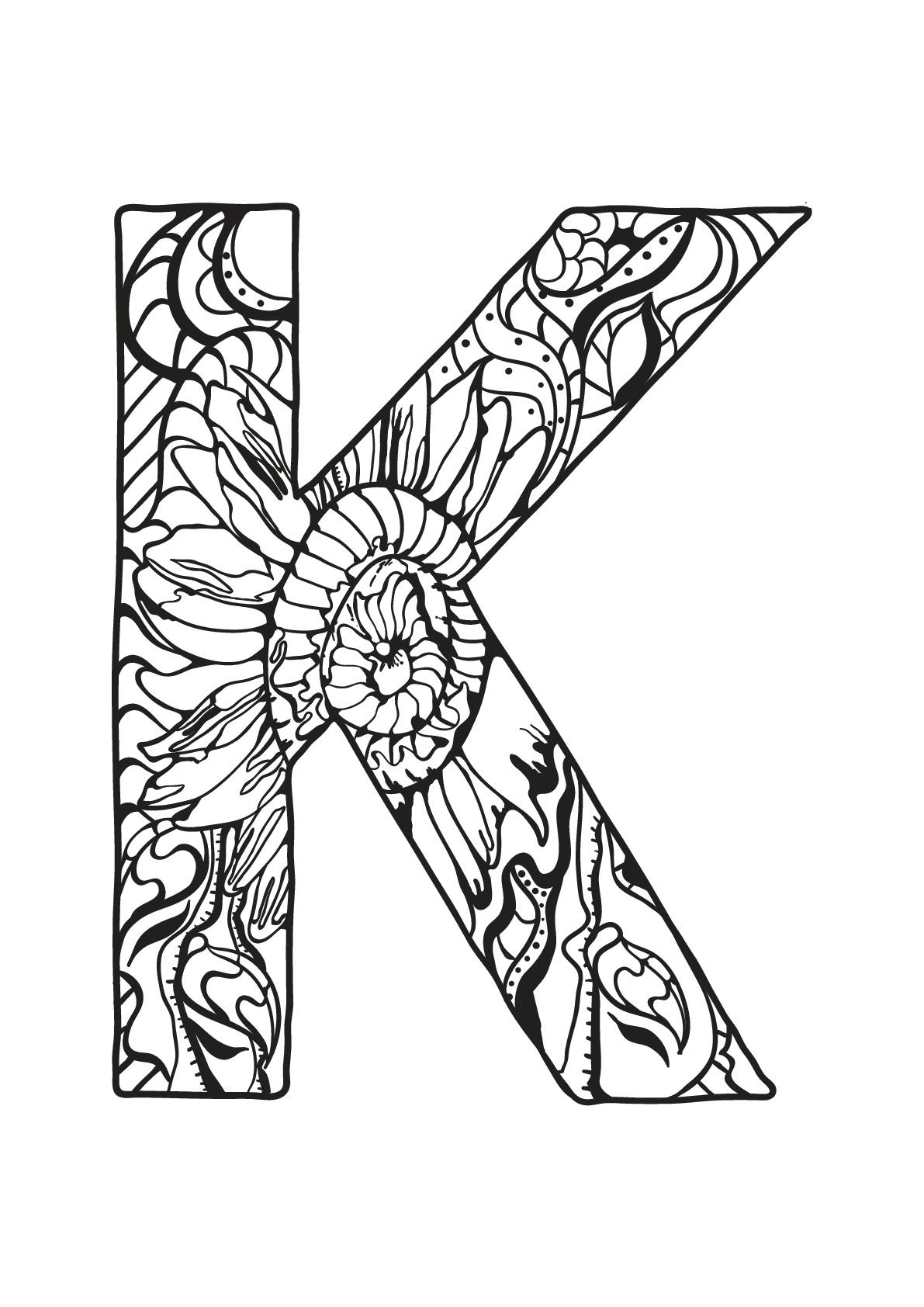 Alphabet free to color for children : K - Alphabet Kids ...