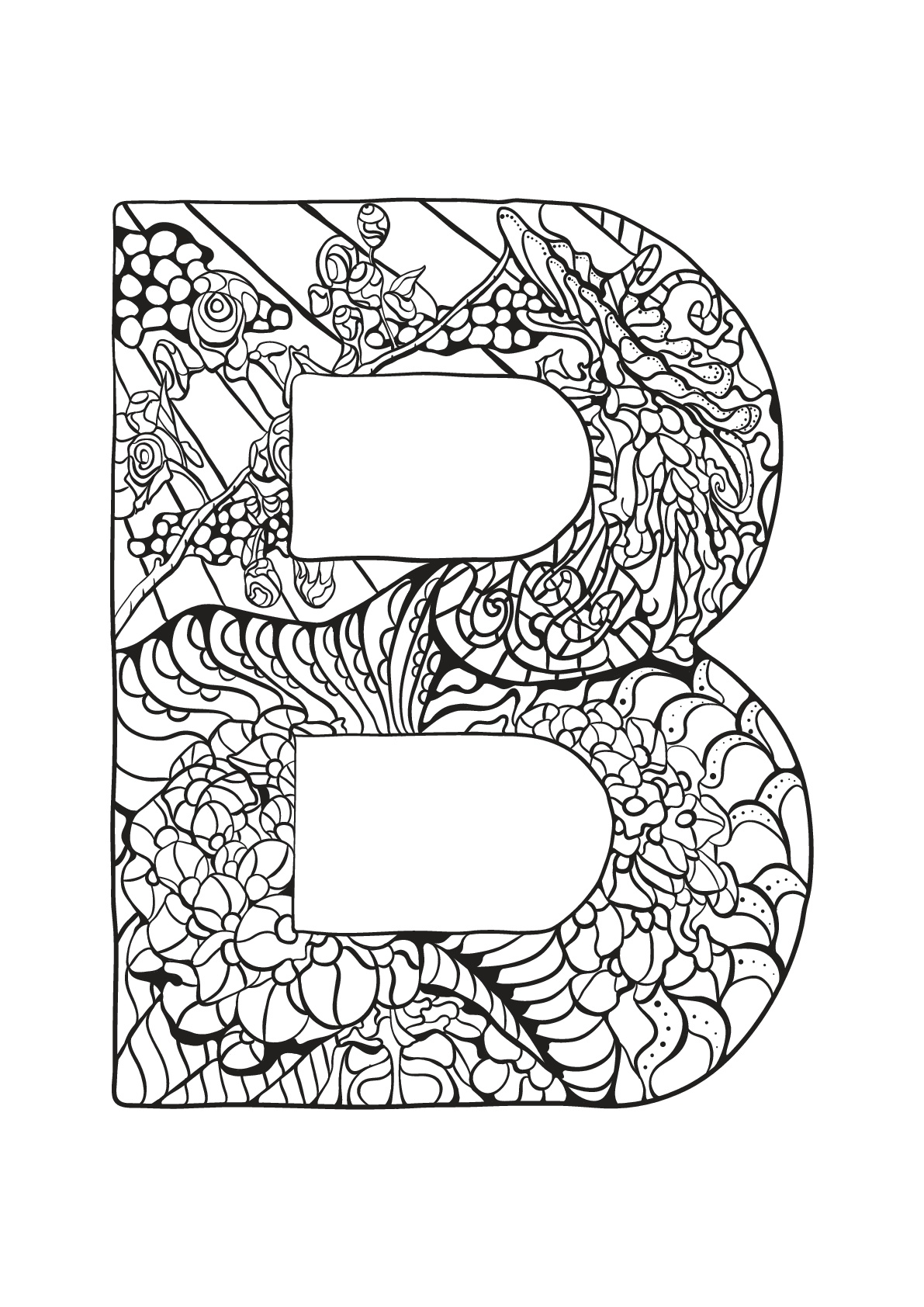 alphabet coloring pages download - photo#23