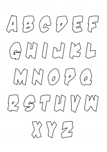 Coloring page alphabet to download for free