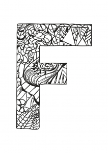 Coloring page alphabet free to color for kids