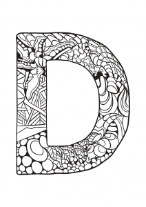 Coloring page alphabet to print