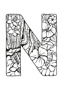 Coloring page alphabet for children