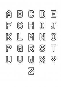 Coloring page alphabet free to color for kids : From A to Z