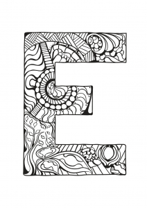 Coloring page alphabet free to color for children