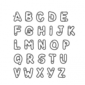 Coloring page alphabet to download : From A to Z