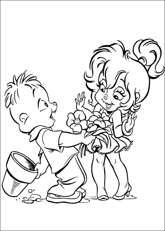 Funny Alvin coloring page
