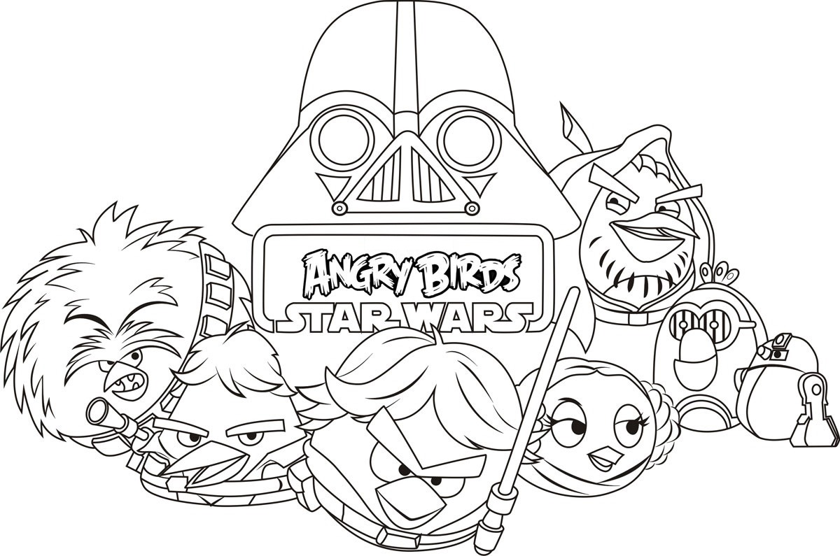 angry birds star wars coloring pages Angry birds star wars to print   Angry Birds Star Wars Kids  angry birds star wars coloring pages