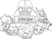 Angry Birds Star Wars Coloring Pages for Kids