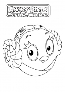 Coloring page angry birds star wars free to color for children