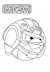 Coloring page angry birds star wars to download for free
