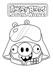 Coloring page angry birds star wars to download